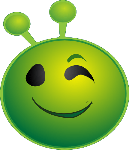 smiley alien