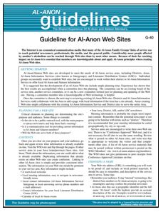 Al-Anon Websites - G-40 thumbnail