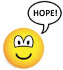 Smiley saying the word hope