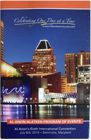 Al-Anon International Convention 2018 Baltimore Program Booklet - thumbnail